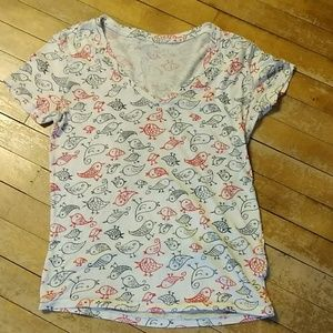 Urban Outfitters BDG V Neck Bird Shirt Size M